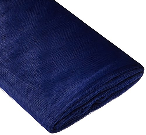 BBCrafts Navy Blue Polyester Tulle Fabric Bolt 54 inch 40 Yards -