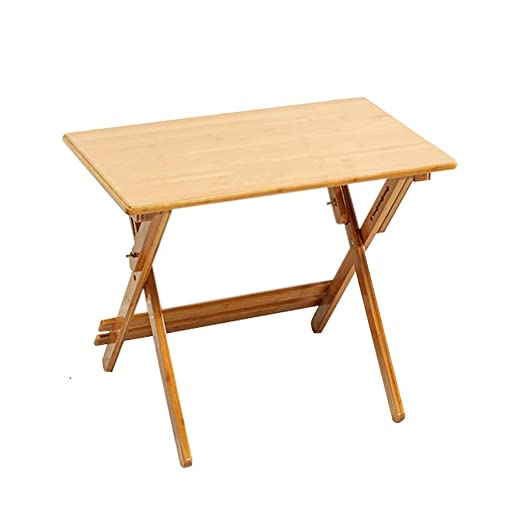 GWFVA Mesa Plegable Mesa de Estudio Bambú Puede Levantar el ...