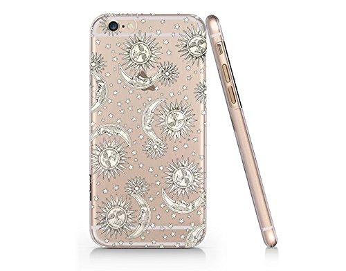 new styles 87880 39eb6 Amazon.com: Sun Care Moon Pattern Slim Iphone 6 Plus Case, Clear ...