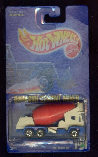 Hot Wheels 1991-144 Oshkosh Cement Mixer All Blue Card 1:64 Scale (Oshkosh Cement Mixer)