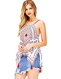 Womens Bohemian Printed Cami Top
