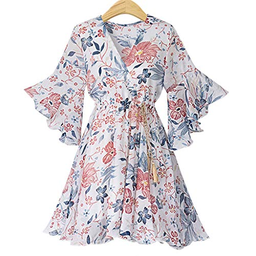 Women's Vintage Dresses, Tronet Women's Summer Fashion Small Fragments V-Collar Chiffon Mini-Dress from Tronet Women Dress