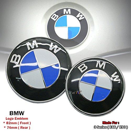 Bmw 325 (82 & 74mm Replacement BMW Badge Emblem Logo For BMW E46 E90 323 325 328 330 335 M3)
