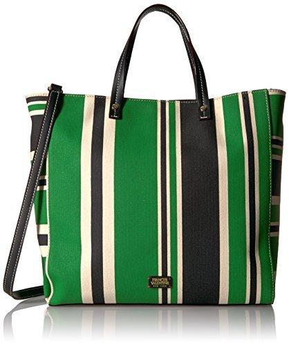 Frances Valentine Large Margaret Striped Canvas Messenger Bag [並行輸入品]   B078FZQJFM