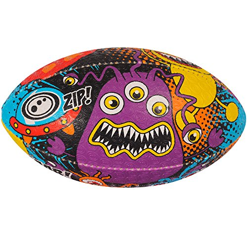Optimum Training Rugby Ball (Size 3, SPACE MONSTERS)