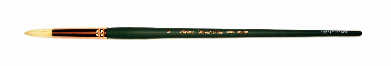 Filbert Size 2 Silver Brush 1003-2 Grand Prix Premier Long Handle Hog Bristle Brush