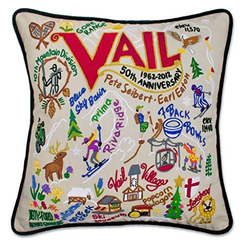 Amazon.com: Catstudio Ski Vail Embroidered Decorative Throw ...