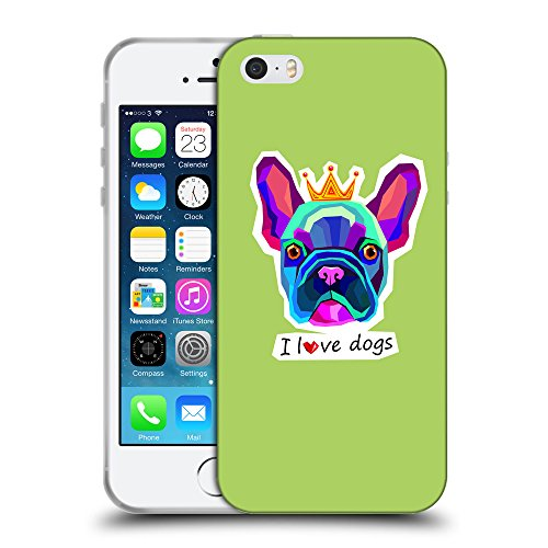GoGoMobile Coque de Protection TPU Silicone Case pour // Q05070628 Couronne bulldog Inchworm // Apple iPhone 5 5S 5G SE