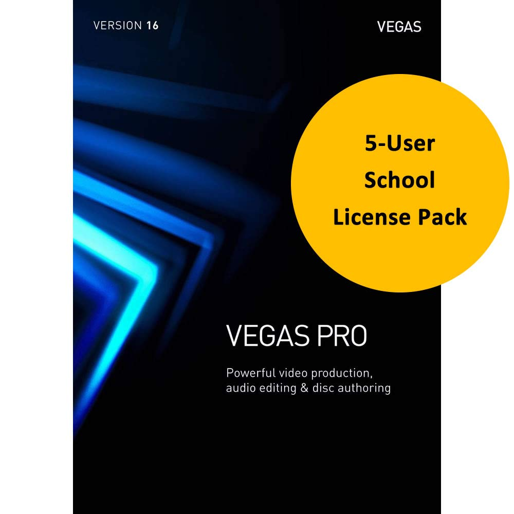 MAGIX Vegas Pro 16 for Windows 5-User School License [Download Card] - Professional Video & Audio Editing and Disc Authoring Software by Genesis-MGX