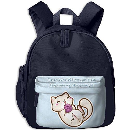 A Cat Playing With Wool Printing Book Bag Lovely Cartoon Animal Kid's School Daypack Fishing Boy Kindergarten Backpacks (Printing Wool)
