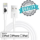 [Apple MFi Certified] Lightning Cable, iPhone 7 Cord, IPhone Charger, Charging Connector (1 Pack) by Trusted Cables (3ft - 1m) Compatible With iOS 10 ,