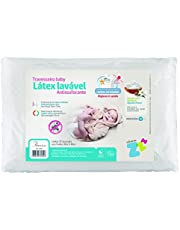Travesseiro Antissufocante Lavável, Capa Extra, Baby, Látex, Branco, Fibrasca