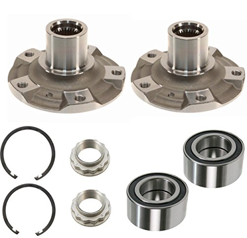 DTA DWHB510081XI x2-2 Front Wheel Hub Wheel Bearing Kits Left and Right Fits BMW 328Xi, 335Xi, 328iXdrive, 335iXdrive, With Retaining Rings Nuts Bmw Front Wheel Drive