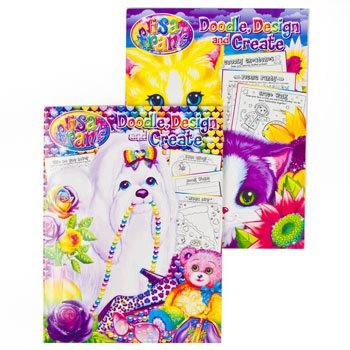 Lisa Frank Giant Doodle, Design and Create Coloring & Activity Book - 2 Pack
