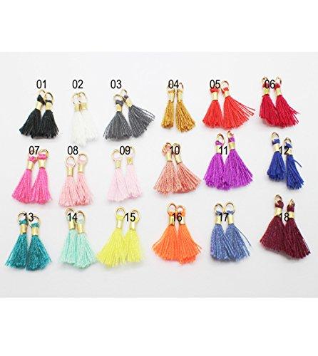 Pamir Tong Wholesale 36pcs/lot 13mm(1/2'') Mini Tassels Tiny Short Cotton Thread Tassels/Earring/Bracelet Tassel GD36ST139