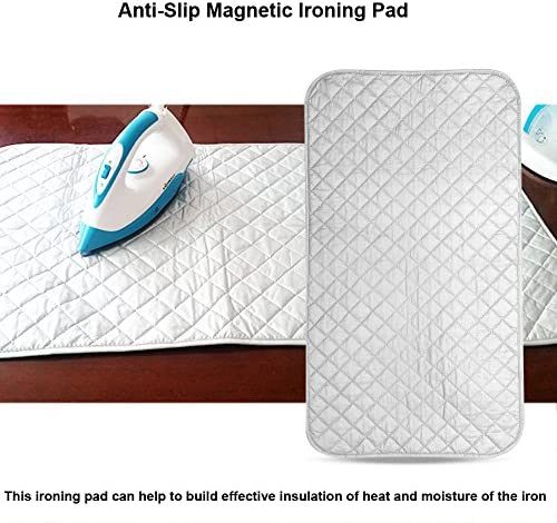 Ironing Blanket, heat resistant Table Top Ironing Pad Foldable Anti-Slip Magnetic Ironing Mat Table Top for Home, Travel