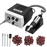 Cadrim Electric Nail Art Drill File Machine Professional Nail Dill Beauty Tools for Manicure and Pedicure with Bits and Forward Reverse Control US Plug. (JD400Black)