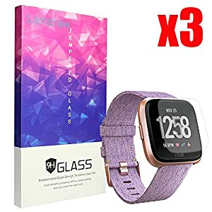 for Fitbit Versa Screen Protector, Lamshaw 9H Tempered ...