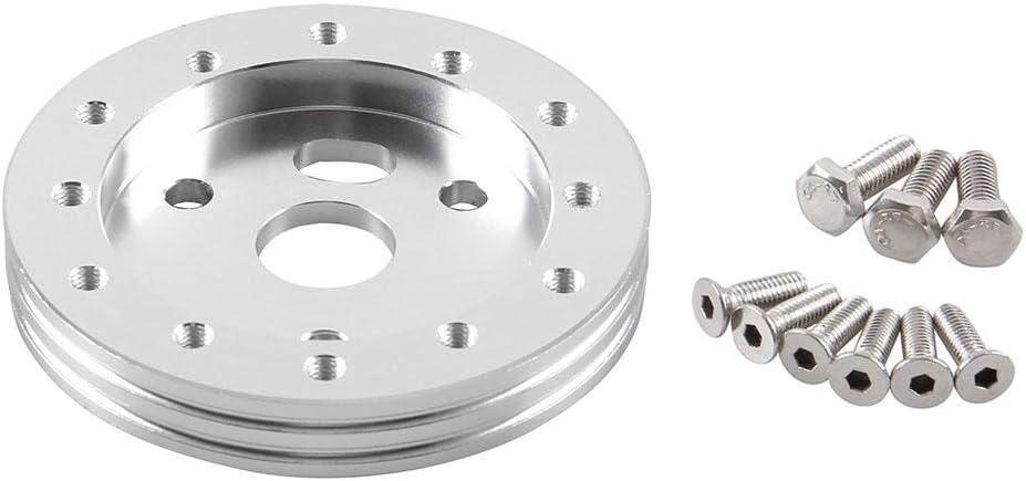 Blue Aluminium 25mm Height Steering Wheel Hub Adapter Spacer Kit for Gm/'s Car