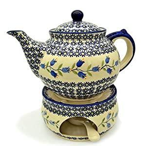 Bunzlauer Ceramic Teapot with Warmer Dekor Agnes