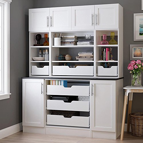 30 in. x 84 in. x 15 in. Ready to Assemble Utility Tower Cabinet in Polar White by B301584-PW