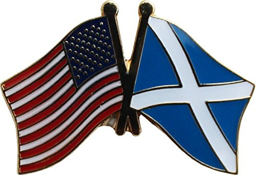 ALBATROS Pack of 3 USA American Scotland Cross Flag Lapel Pin for Bike Hat and Cap for Home and Parades, Official Party, All Weather Indoors Outdoors