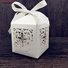 Saasiiyo 2016 New 50pcs/lots Jesus Christian Laser Cut Wedding favor box cross candy box wedding favors decor candy cookie gift box