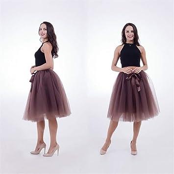 JingBiaomaoyi Falda de Tul, Princesa de Mujer A-Line Tutu Enagua ...