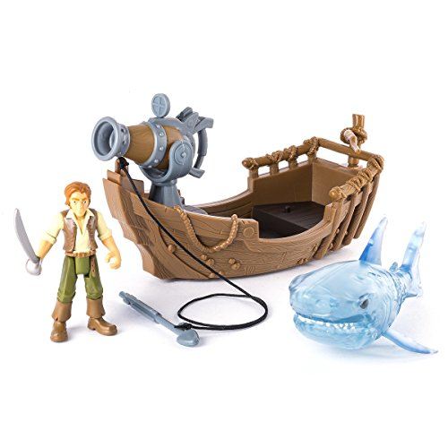 Masters Games Screen (Pirates of the Caribbean - GHOST SHARK ATTACK SET - Straight from the Big Screen, this Set Includes a Stylized 3 inch Henry figure, Spooky Ghost Shark, and Boat with Launching Harpoon)