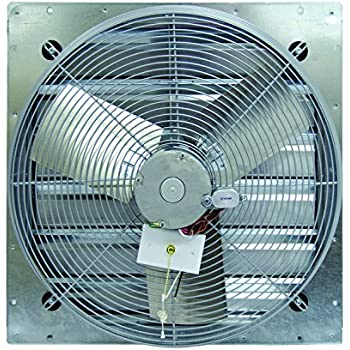 TPI Corporation CE30-DS Direct Drive Exhaust Fan, Shutter Mounted, Single Phase, 30