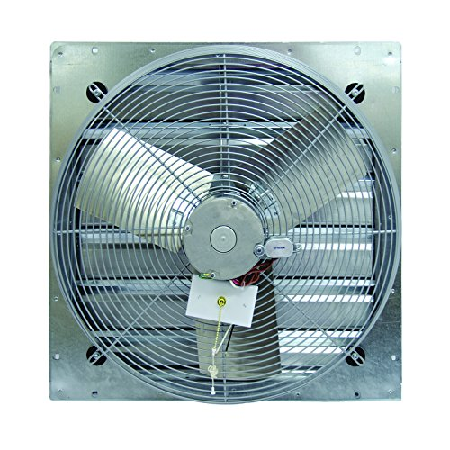 TPI Corporation CE24-DS Direct Drive Exhaust Fan, Shutter Mounted, Single Phase, 24