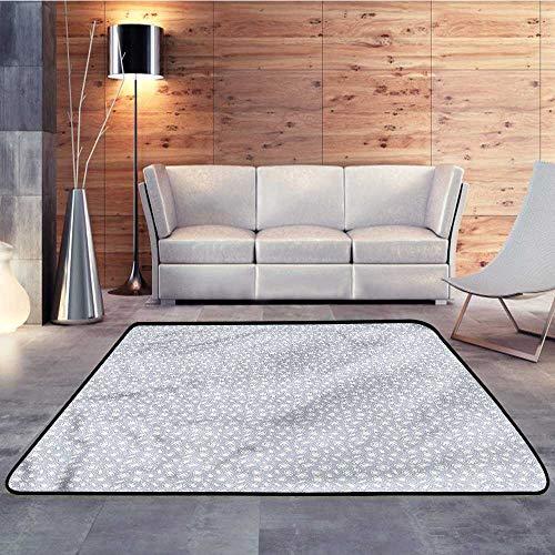 - Rugs for Kitchen Floor,Diamonds,Heart Pentagon SketchW 35