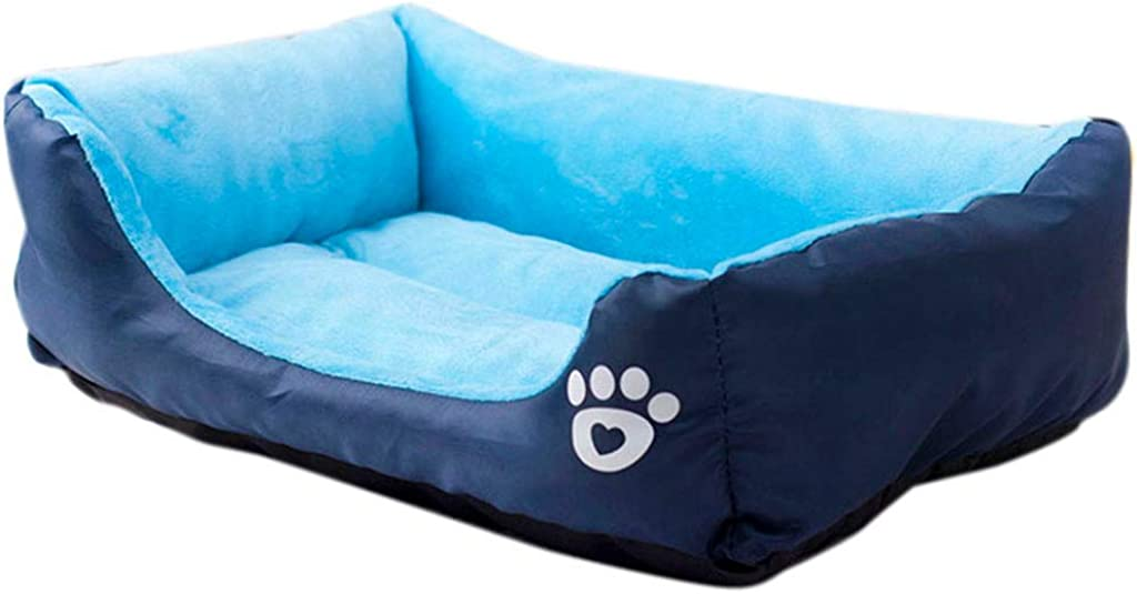 Blue, S vmree Pet Dog Cat Super Soft Cushion Bed Puppy Kitten Warm Stuffed Rest Sleep Pad House