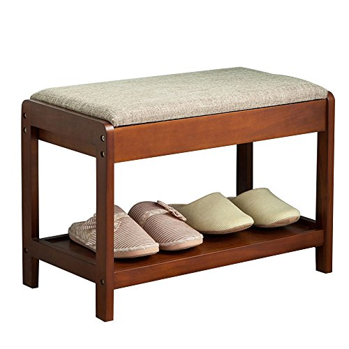 ZQZ Solid Wood Cassette Design Stealth Storage Moisture-Resistant and Dirt-retaining Stronger Load-Bearing 3 Colors Available for All Occasions Modern Minimalist Storage Storage Stool (#)