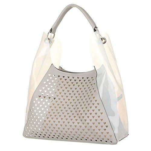 Ital-DesignSchultertasche bei Ital-Design - Bolso de hombro Mujer Gris - gris