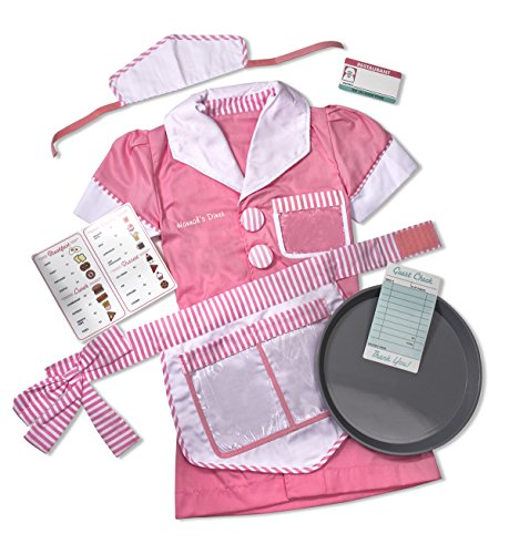 Occupation Halloween Costumes (Melissa & Doug Personalized Waitress Role Costume)