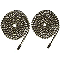 Pull Chain 2 pack 36 Beaded ball chain with Connector (Antique)
