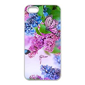 Purple Butterfly Hight Quality Plastic Case for Iphone 5s