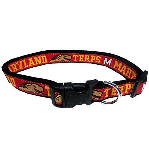 Pets First Collegiate Pet Accessories, Dog Collar, Maryland Terrapins, Small