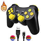 AIRUIDE PS3 Wireless Controller, Double Shock SIXAXIS Gamepad Remote for PlayStation 3, Charging Cable and 2 Thumb Grip Caps Included (Yellow) Review