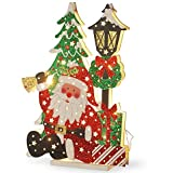National Tree Company 17-1/2-Inch Wooden Santa Scene (Pack Of 4)