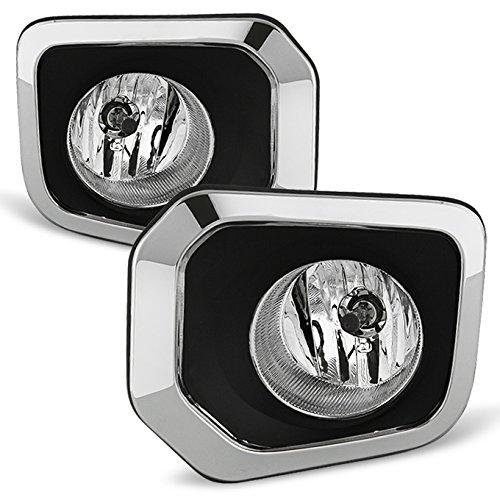 (For 2016-2018 Toyota Tacoma Pickup Truck Chrome Bezel Bumper Driving Fog Light Lamp W/Switch Left+Right)