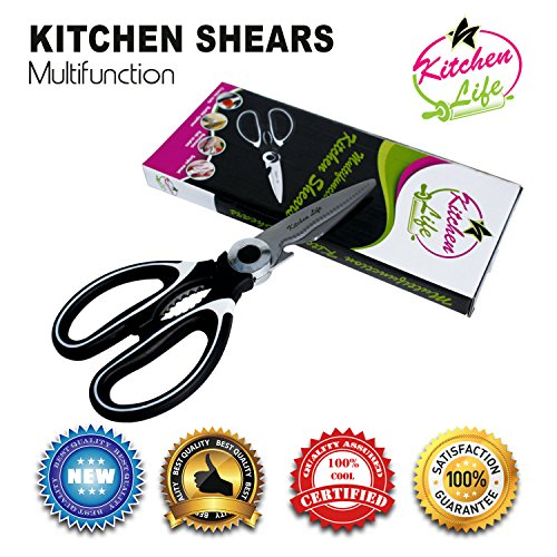 Multifunctional Kitchen Shears By Kitchen Life | Multi-Purpose Kitchen Scissors For Meat, Chicken, Poultry, Vegetables, Herbs & More | Best Utility Scissors w/ Comfortable - Miu Miu Chicago