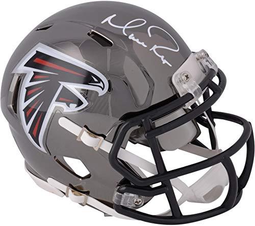 Authentic Autographed Nfl Mini Helmet - Matt Ryan Atlanta Falcons Autographed Riddell Chrome Alternate Speed Mini Helmet - Fanatics Authentic Certified