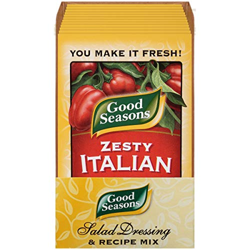 Good Seasons Zesty Italian Salad Dressing & Recipe Mix (0.6 oz Packets, Pack of 24) ()