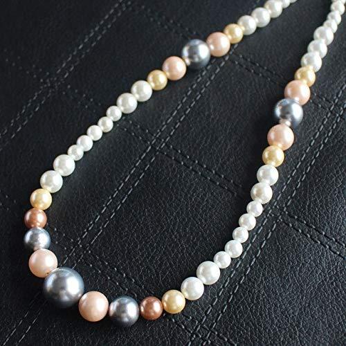 Calvas 6-14mm Multi-Color Shell Pearl Round Beads 16