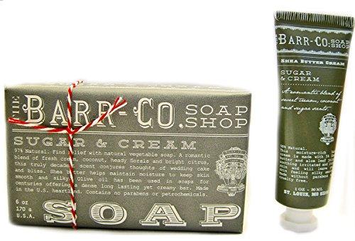 Barr Co Sugar & Cream Bar Soap with Mini Hand Cream k hall d