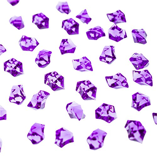 Super Z Outlet Acrylic Color Ice Rock Crystals Treasure Gems for Table Scatters, Vase Fillers, Event, Wedding, Arts & Crafts, Birthday Decoration Favor (190 Pieces) (Purple)