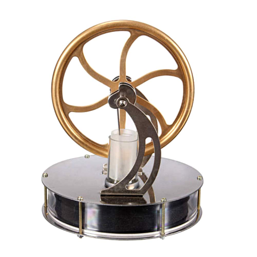 At27clekca Low Temperature Stirling Engine Model Steam Machine Science Educational Toy Electricity Generator by At27clekca (Image #3)