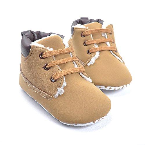 Kuner Baby Boy S Brown Warm Snow Short Boots Moccasins